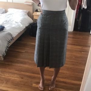 Vintage high waist midi wool pencil skirt